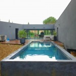 Construction piscine contemporaine