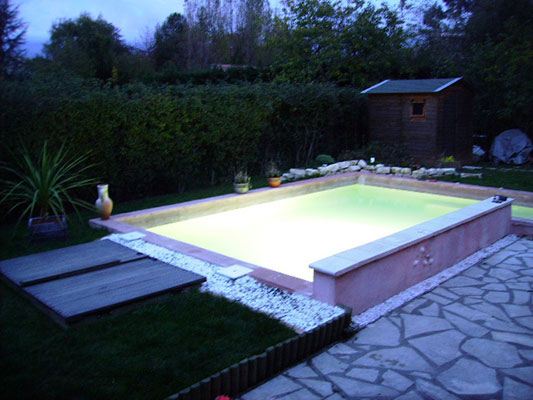 Spa nager ou mini piscines for Taille standard piscine